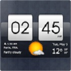 Sense Flip Clock & Weather