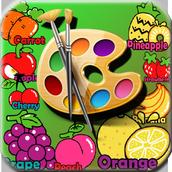 Libro para colorear de frutas